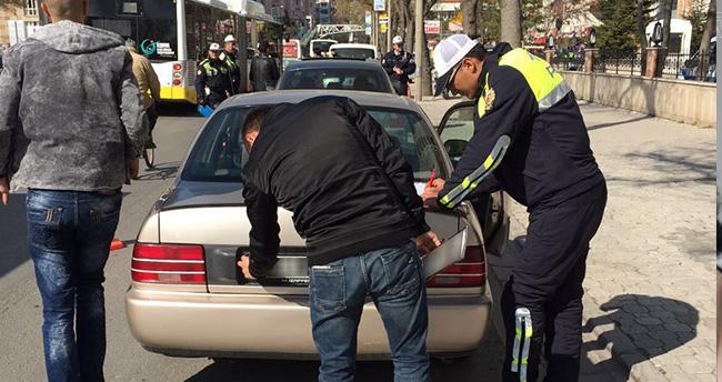 Konya'da modifiye araçlara yönelik denetimler