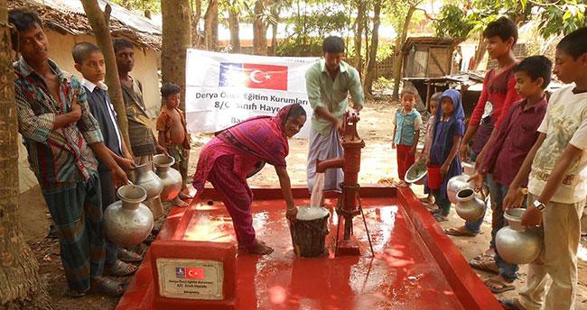 Arakanlı Müslümanlar için harçlıklarıyla su kuyuları açtırdılar