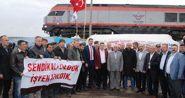 Türk-İş Konya'dan, Ilgınlı madencilere tam destek