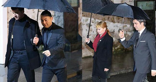 Başbakanlık'ta ünlü yağmuru