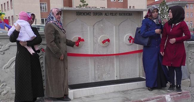 Konya'da lise öğrencileri ölen arkadaşları için çeşme yaptırdı