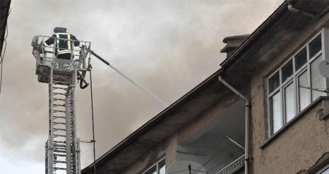 Akşehir'de yangın