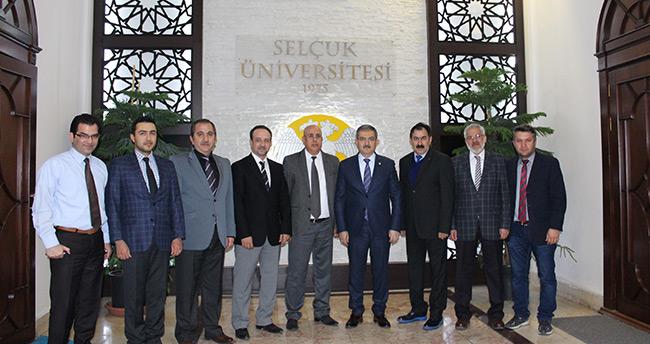 TSYD Rektör Şahin'i Ziyaret Etti