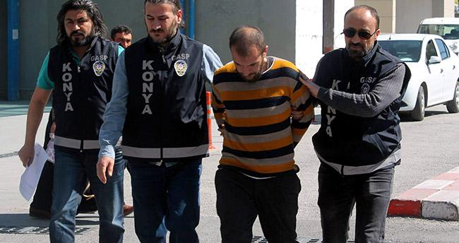 Konya'daki gaspcıyı bandanası yakalattı