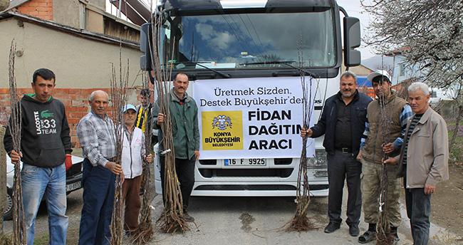 Konya Büyükşehir'den çiftçiye destek