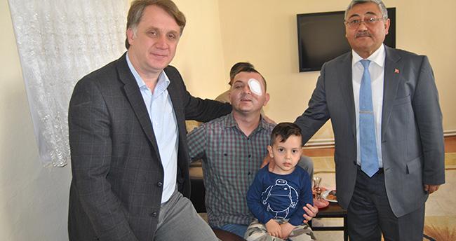 Sur'da yaralanan Konyalı Uzman Çavuş'a ziyaret