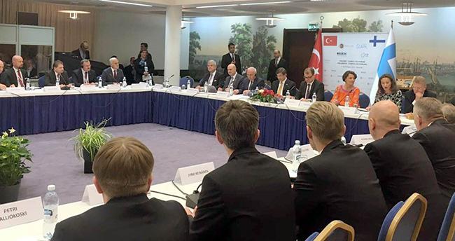 Memiş Kütükcü Başbakan'ın Finlandiya ziyaretine katıldı