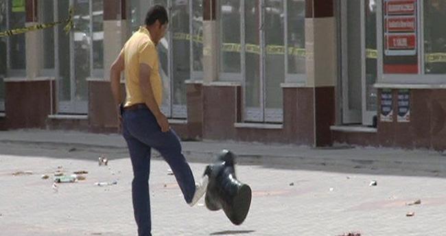 Konya'da şüpheli pakete tekme atan kişiye ceza