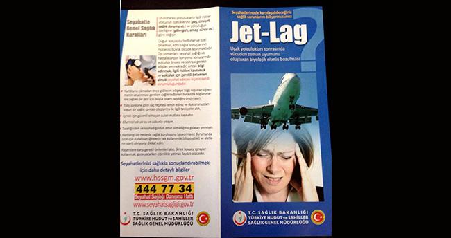 """Sağlık Bakanlığından """"jet-lag"""" broşürü"""