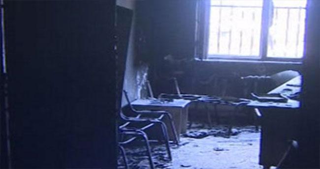 Teröristler Üs Gibi Kullandıkları Okul ve Diyaliz Ünitesini Ateşe Verdi