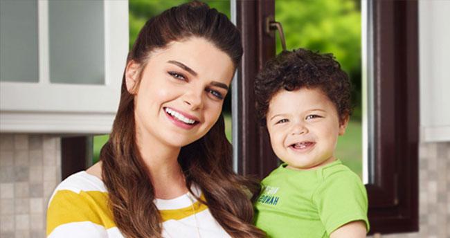 Pelin Karahan'ın oğlu Ali Demir de reklam yıldızı oldu