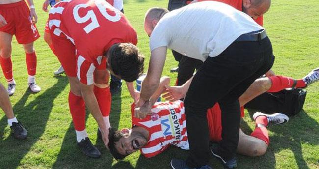 Erdemli Belediyespor-Akşehirspor maçında kavga çıktı!