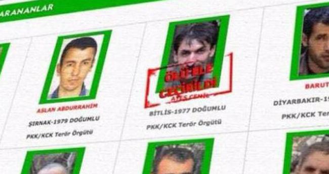 Terörist Cemil Ateş'i bir nine ihbar etti