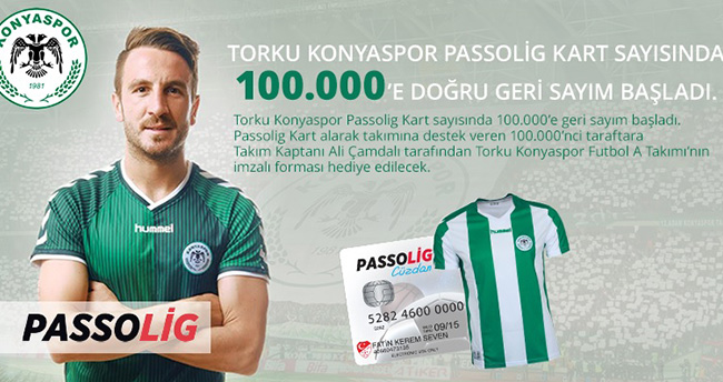 Torku Konyaspor Passolig Kart'ta 100 bine koşuyor