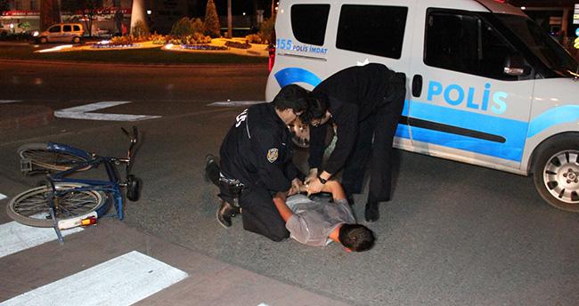 Konya'da bisiklet hırsızı polis kovalamacası ile yakalandı