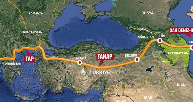 TANAP projesine 2 ülkeden gaz