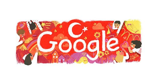 Google'dan 23 Nisan'a özel Doodle… 23 Nisan Ulusal Egemenlik ve Çocuk Bayramı…
