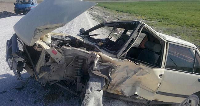 Konya'da öğretmenler TEOG sınavına giderken kaza yaptı