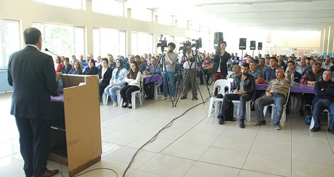 Konya'da işçilerden eylem