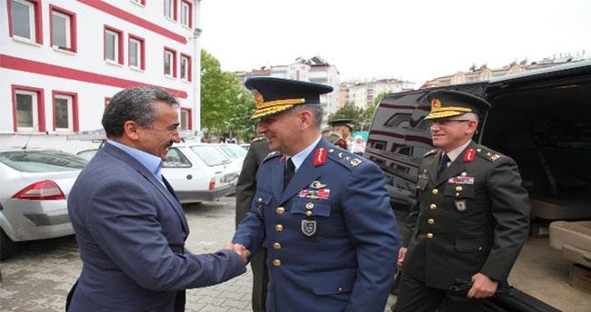 Konya Garnizon Komutanı Şahar'dan Başkan Tutal'a Ziyaret