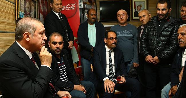 Erdoğan'dan gece yarısı sürpriz ziyaret