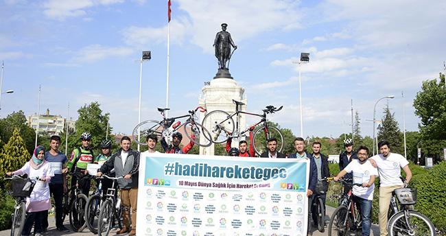 Meram Gençlik Mecsisi üyeleri bisiklet sürdü