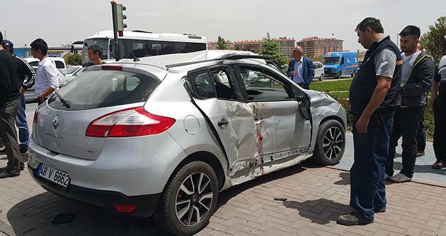Konya'da otomobille tır çarpıştı: 7 yaralı