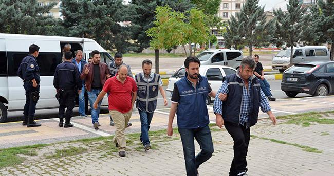 Aksaray'da FETÖ mal kaçırma şüphelileri adliyede