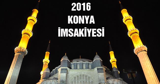 2016 Ramazan ayı Konya için imsakiye- Konya Ramazan imsakiyesi