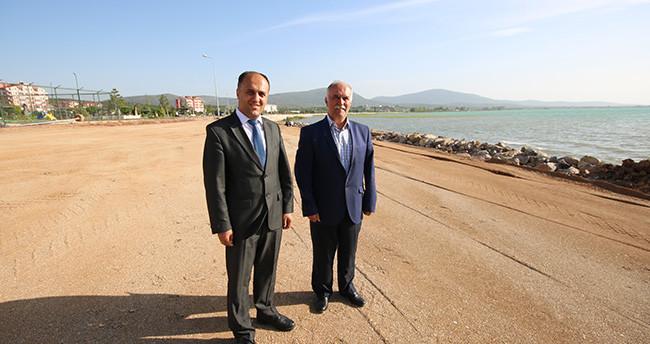 Beyşehir'de çocuklara özel plaj