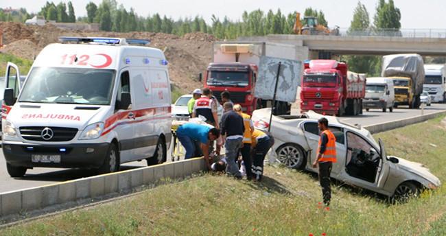 Konya Ereğli İlçe Emniyet Müdürü ve Ak Parti İlçe Başkanı kaza yaptı