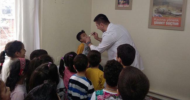 Bozkır'da ana sınıfı öğrencilerine meslekler tanıtıldı