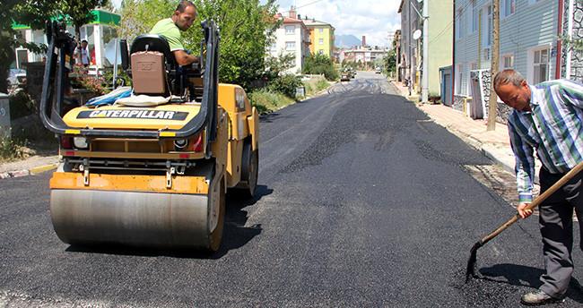 Seydişehir'de sıcak asfalt çalışmaları