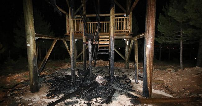 Beyşehir'de mesire alanında çıkan yangın söndürüldü