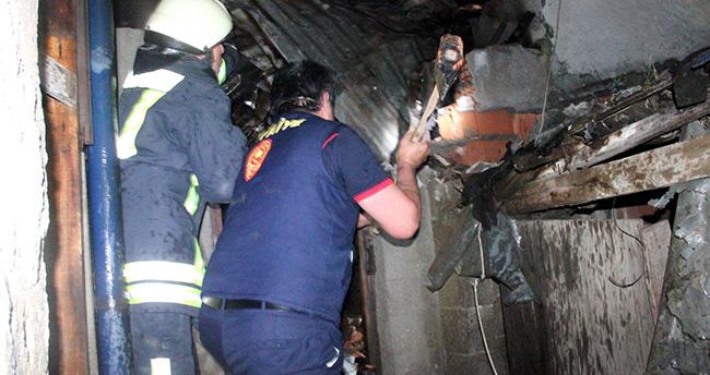 Konya'da kömürlük yangını