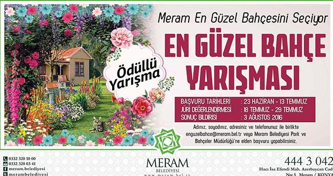Meram en güzel bahçesini seçiyor
