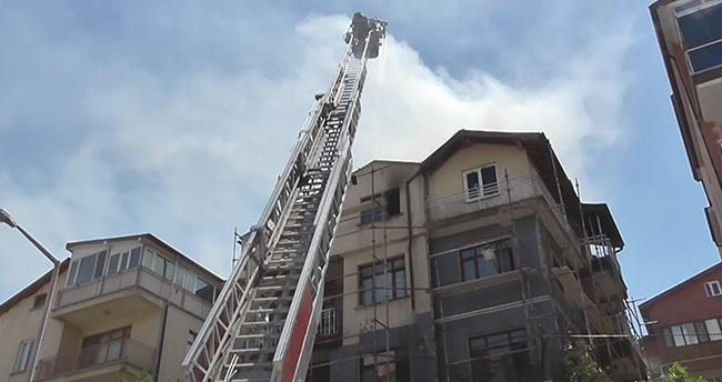Konya'da çatı yangını