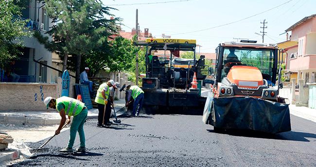 Meram'da asfalt çalışmaları