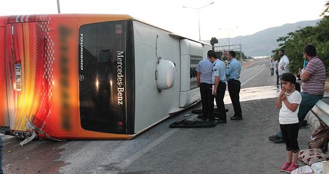 Konya-Diyarbakır otobüsü kaza yaptı: 27 yaralı