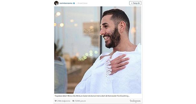 Real Madrid'in yıldızı Karim Benzema umreye gitti