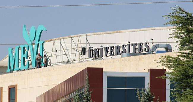 Mevlana Üniversitesi'nin tabelası indirildi