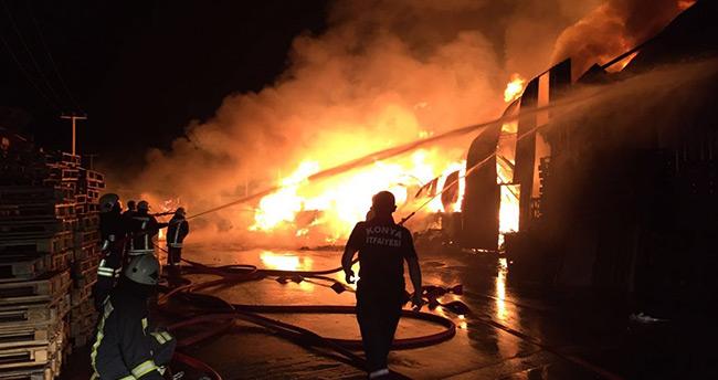 Konya Marsan Sanayi'de büyük yangın!