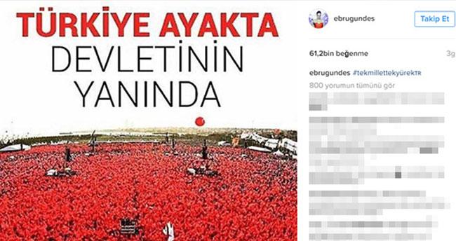 Ebru Gündeş'in paylaşımı rekor kırdı