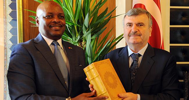 Raunda Ankara Büyükelçisi Nkurunziza'dan, Başkan Aykürek'e ziyaret