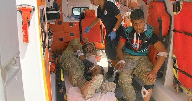 Operasyonda yaralanan 3 ÖSO mensubu Gaziantep'e getirildi