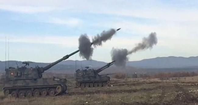 Tank ve obüslerin namluları Cerablus'a çevrildi