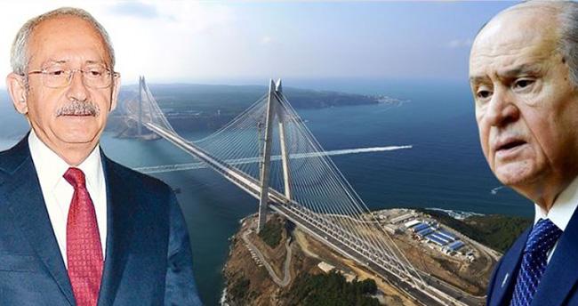 Bahçeli ve Kılıçdaroğlu Yavuz Sultan Selim Köprüsü'nün açılış törenine davet edildi