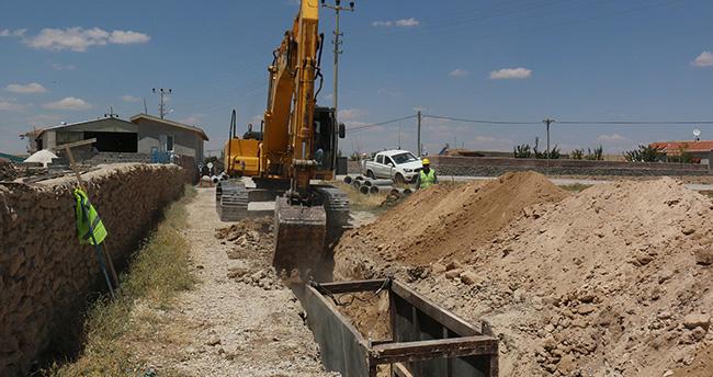 Konya'da kanalizasyon çalışmaları sürüyor