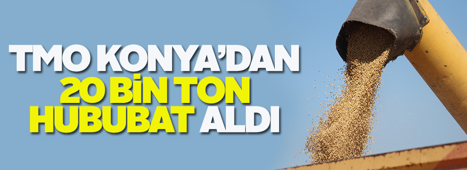 TMO, Konya'dan 20 bin ton hububat aldı