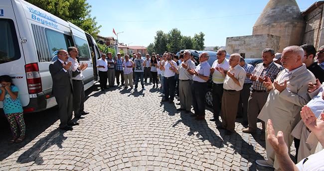 Beyşehir'de hacı adayları dualarla uğurlandı